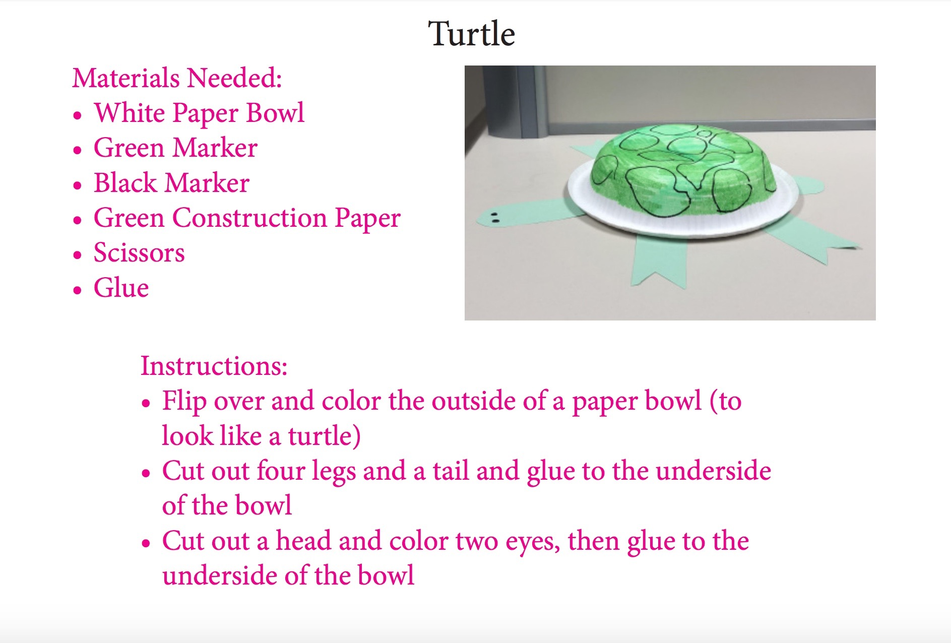Turtle Day Activity - Reaching your Goals